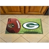 "FANMATS NFL - Greenbay Packers Scraper Mat 19""x30"" - Ball"