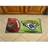"FANMATS NFL - Jacksonville Jaguars Scraper Mat 19""x30"" - Ball"