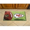 "FANMATS NFL - Kansas City Chiefs Scraper Mat 19""x30"" - Ball"