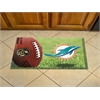 "FANMATS NFL - Miami Dolphins Scraper Mat 19""x30"" - Ball"