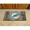 """FANMATS NFL - Miami Dolphins Scraper Mat 19""""x30"""" - Camo"""