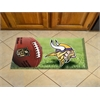 "FANMATS NFL - Minnesota Vikings Scraper Mat 19""x30"" - Ball"