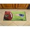 """FANMATS NFL - New England Patriots Scraper Mat 19""""x30"""" - Ball"""