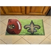 "FANMATS NFL - New Orleans Saints Scraper Mat 19""x30"" - Ball"