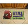 """FANMATS NFL - New York Giants Scraper Mat 19""""x30"""" - Ball"""