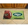 "FANMATS NFL - New York Jets Scraper Mat 19""x30"" - Ball"