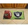 "FANMATS NFL - Oakland Radiers Scraper Mat 19""x30"" - Ball"