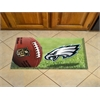"FANMATS NFL - Philadelphia Eagles Scraper Mat 19""x30"" - Ball"