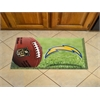 "FANMATS NFL - San Diego Chargers Scraper Mat 19""x30"" - Ball"