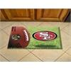 """FANMATS NFL - San Francisco 49ers Scraper Mat 19""""x30"""" - Camo"""