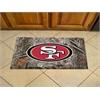 "FANMATS NFL - San Francisco 49ers Scraper Mat 19""x30"" - Ball"
