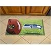"FANMATS NFL - Seattle Seahawks Scraper Mat 19""x30"" - Ball"