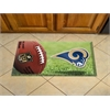 """FANMATS NFL - St Louis Rams Scraper Mat 19""""x30"""" - Ball"""