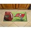 "FANMATS NFL - Tampa Bay Buccaneers Scraper Mat 19""x30"" - Ball"