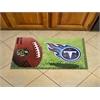 "FANMATS NFL - Tennessee Titans Scraper Mat 19""x30"" - Ball"