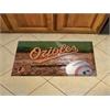 """FANMATS MLB - Baltimore Orioles Scraper Mat 19""""x30"""" - Ball"""