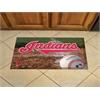 """FANMATS MLB - Cleveland Indians Scraper Mat 19""""x30"""" - Ball"""