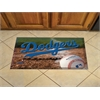 "FANMATS MLB - Los Angeles Dodgers Scraper Mat 19""x30"" - Ball"