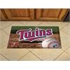 """FANMATS MLB - Minnesota Twins Scraper Mat 19""""x30"""" - Ball"""