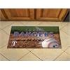 """FANMATS MLB - Texas Rangers Scraper Mat 19""""x30"""" - Ball"""