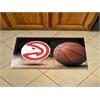 """FANMATS NBA - Atlanta Hawks Scraper Mat 19""""x30"""" - Ball"""