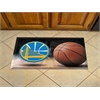 "FANMATS NBA - Golden State Warriors Scraper Mat 19""x30"" - Ball"