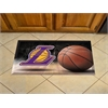 "FANMATS NBA - Los Angeles Lakers Scraper Mat 19""x30"" - Ball"