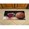 "FANMATS NBA - Miami Heat Scraper Mat 19""x30"" - Ball"