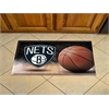 "FANMATS NBA - Brooklyn Nets Scraper Mat 19""x30"" - Ball"