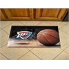 "FANMATS NBA - Oklahoma City Thunder Scraper Mat 19""x30"" - Ball"