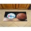 "FANMATS NBA - Philadelphia 76ers Scraper Mat 19""x30"" - Ball"