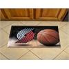 "FANMATS NBA - Portland Trail Blazers Scraper Mat 19""x30"" - Ball"