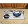"""FANMATS NHL - Buffalo Sabres Scraper Mat 19""""x30"""" - Puck"""
