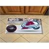 "FANMATS NHL - Colorado Avalanche Scraper Mat 19""x30"" - Puck"