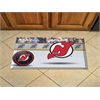 "FANMATS NHL - New Jersey Devils Scraper Mat 19""x30"" - Puck"