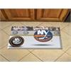 "FANMATS NHL - New York Islanders Scraper Mat 19""x30"" - Puck"