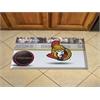 "FANMATS NHL - Ottawa Senators Scraper Mat 19""x30"" - Puck"