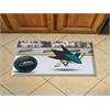 """FANMATS NHL - San Jose Sharks Scraper Mat 19""""x30"""" - Puck"""