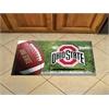 "FANMATS Ohio State Scraper Mat 19""x30"" - Ball"