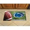 """FANMATS Penn State Scraper Mat 19""""x30"""" - Ball"""
