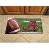 """FANMATS Alabama Scraper Mat 19""""x30"""" - Ball"""