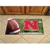 """FANMATS Nebraska Scraper Mat 19""""x30"""" - Ball"""