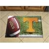 """FANMATS Tennessee Scraper Mat 19""""x30"""" - Ball"""