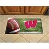 """FANMATS Wisconsin Scraper Mat 19""""x30"""" - Ball"""