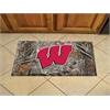 """FANMATS Wisconsin Scraper Mat 19""""x30"""" - Camo"""