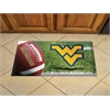 "FANMATS West Virginia Scraper Mat 19""x30"" - Ball"