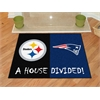 "FANMATS NFL - Pittsburgh Steelers/New England Patriots House Divided Rugs 33.75""x42.5"""
