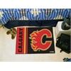 "FANMATS Calgary Flames Uniform Inspired Starter Rug 19""x30"""