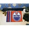 "FANMATS Edmonton Oilers Uniform Inspired Starter Rug 19""x30"""