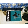 "FANMATS San Jose Sharks Uniform Inspired Starter Rug 19""x30"""